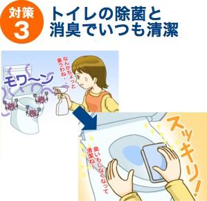 対策3:トイレの除菌消臭でいつも清潔